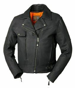 Major Ego Men's Leather Motorcycle Jacket | First Manufactur