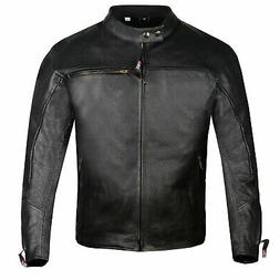 Men Raider Airflow Motorcycle Leather Street Cruiser CE Armo