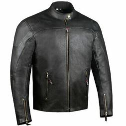 Men's Airflow Perforated Leather Protected Motorcycle CE Arm