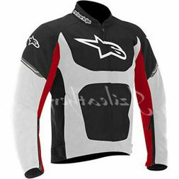 Men's alpine,s Red & Black and white Racing Motorcycle Cowhi
