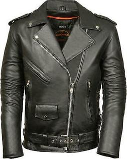 Milwaukee Leather Men's Classic Side Lace Police Style Motor