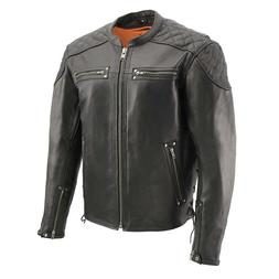 Milwaukee Leather - Men's Full Side Lacing & Vented Scooter