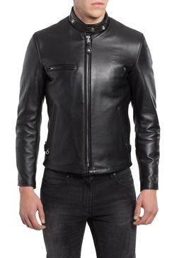 Men's Genuine Lambskin Leather Jacket Slim fit Motorcycle ja
