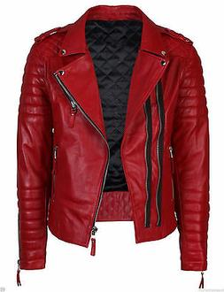 men s genuine lambskin quilted leather motorcycle