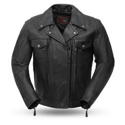 Men's Mastermind Tall Leather Motorcycle Jacket