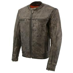 Milwaukee Leather Men's Motorcycle Distressed Brown Scooter