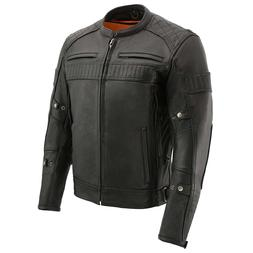 Milwaukee Leather Men's Quilted Pattern Vented Scooter Jacke
