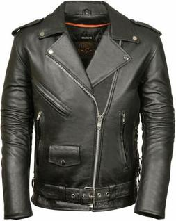 MILWAUKEE LEATHER MEN'S SIDE LACE POLICE STYLE TALL MOTORCYC