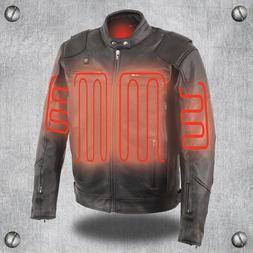 Milwaukee Leather Men's Vented Scooter Jacket W/ Heated Tech