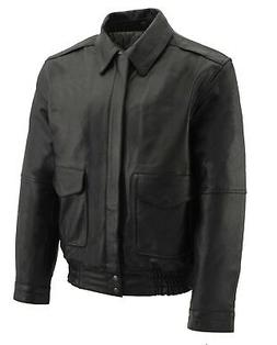 mens all leather classic bomber jacket sfm1519