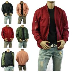 Mens Denim Jean Canvas Jacket Air Force Military Biker Motor