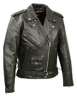 Mens Classic Side Lace Police Style Premium Cowhide Motorcyc