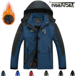 Mens Thick snow Jacket Fleece Lining Thermal Warm Winter Jac