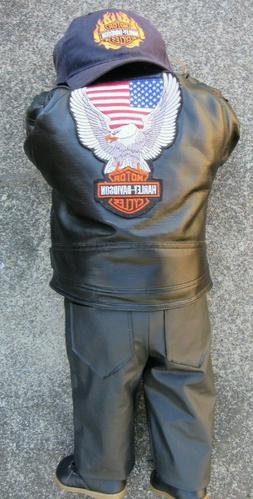 """Motorcycle Harley Davidson HD """"Timeout"""" Doll Faux Leather Pa"""
