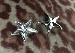 Motorcycle Jacket Silver Stars Studs Cafe Racer Rockers Scho
