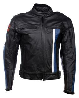 Motorcycle Riding Biker Real Leather Mens Racing Jacket Blac
