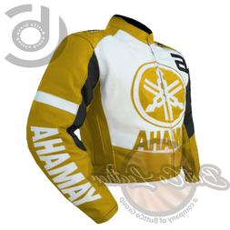 MOTORCYCLE RIDING JACKETS. Yamaha-6-Real-Cowhide-Leather-Jac