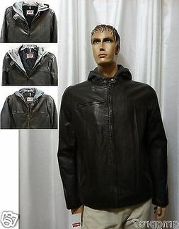 NEW Levis Faux Leather Sherpa or Quilted Lined Hooded Moto B