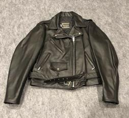 NEW COOPER MOTORCYCLE LEATHER JACKET SIZE 42