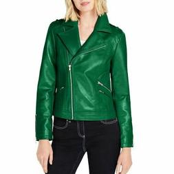 INC NEW Women's Faux-leather Motorcycle Jacket Top TEDO