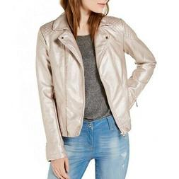 TOMMY HILFIGER NEW Women's Metallic Faux-Leather Motorcycle