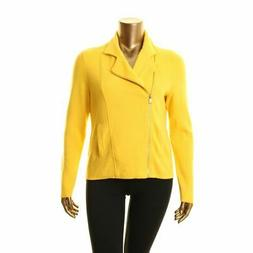 LAUREN RALPH LAUREN NEW Women's Yellow Fall Knit Motorcycle