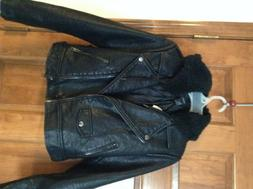 New Forever 21 Womens Motorcycle Faux Leather Sepra Lining J