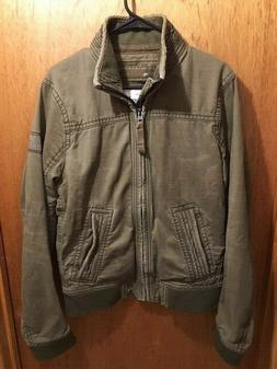 NWOT $179 ABERCROMBIE & FITCH HARRISON MILITARY MOTORCYCLE C