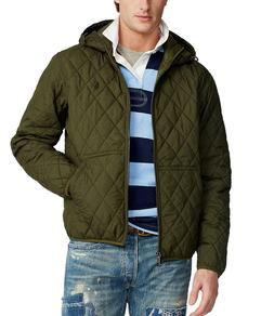 NWT Brand New Polo Ralph Lauren Men's Quilted Hooded Jacket