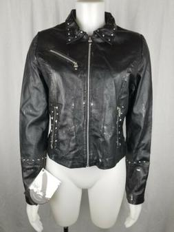 NWT LED ZEPPELIN WILSONS LEATHER ROCK SONG BLACK MOTORCYCLE