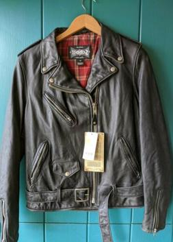 Nwt Schott Perfecto 626VN Black Slim Fit Leather Motorcycle