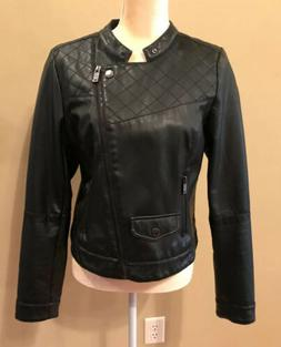NYC DOLLHOUSE OUTERWEAR Womens PLeather/Motorcycle Jacket Bl
