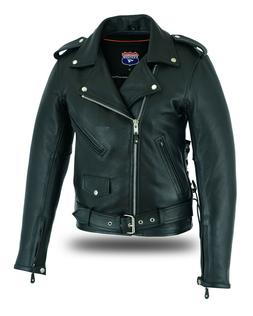 Highway Leather Old School Police Style Motorcycle Leather J