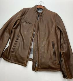 Schott NYC Pebbled Cowhide Café Leather Jacket Style 530 Si