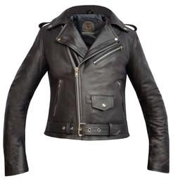 premium girls black genuine cowhide leather brando