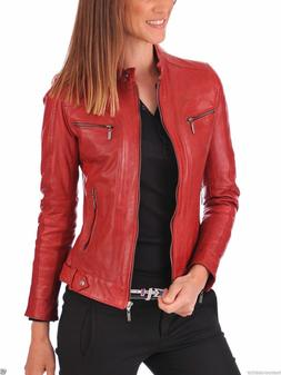 red women s lambskin soft real leather