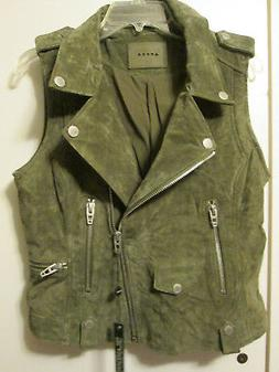 """Blank NYC Suede Leather Motorcycle """"Moto"""" Style Jacket Vest"""