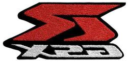 Suzuki GSXR Embroidered Jacket patch Red & White