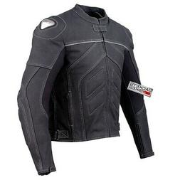 Mens Titanium Motorcycle Leather Jacket Street Cruiser CE Ar