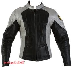 Ultimate Armor Motorcycle Racing Jacket Real Leather Black S