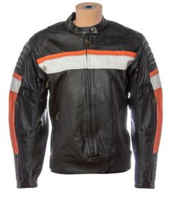 Vintage Mens Real Leather Motorcycle Riding Biker Cafe Racer
