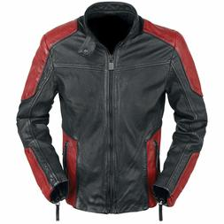 Will Smith Deadshot Suicide Squad Red and Black Biker Motorc