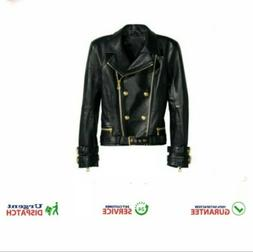 Women Black Motorcycle Style Real Genuine Sheep Skin Leather