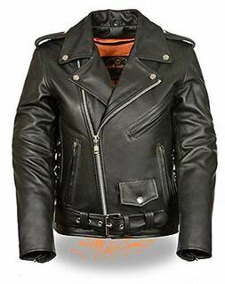 Milwaukee Leather Women Classic Side Lace Police Style Motor