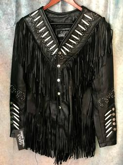 LEATHER GALLERY WOMEN'S Hip Length Indian Western Leather Ja