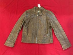 Women's Levi's Red Tab Brown Motorcycle Real Leather Jacket