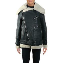 Walter Baker Womens Leather Faux Fur Lined Winter Motorcycle