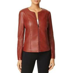 Bagatelle Womens Red Faux Leather Scuba Workwear Motorcycle