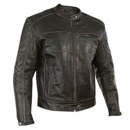 xelement xs-151300 Brown distressed leather motorcycle jacke